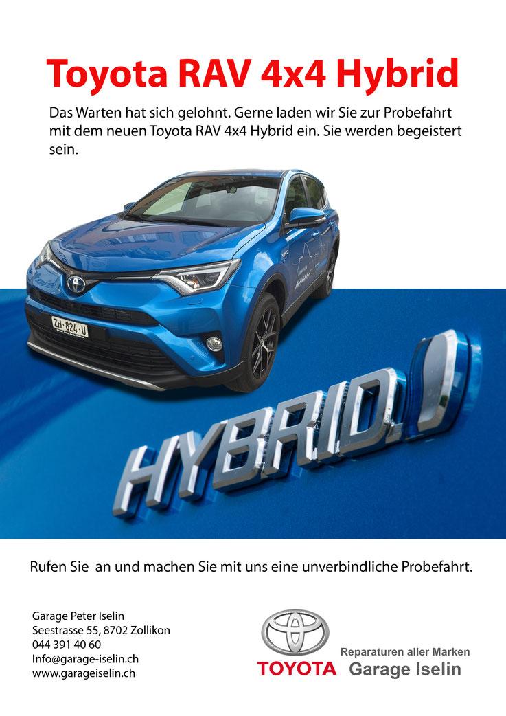Probefahrt Flyer Toyota RAV 4x4 Hybrid