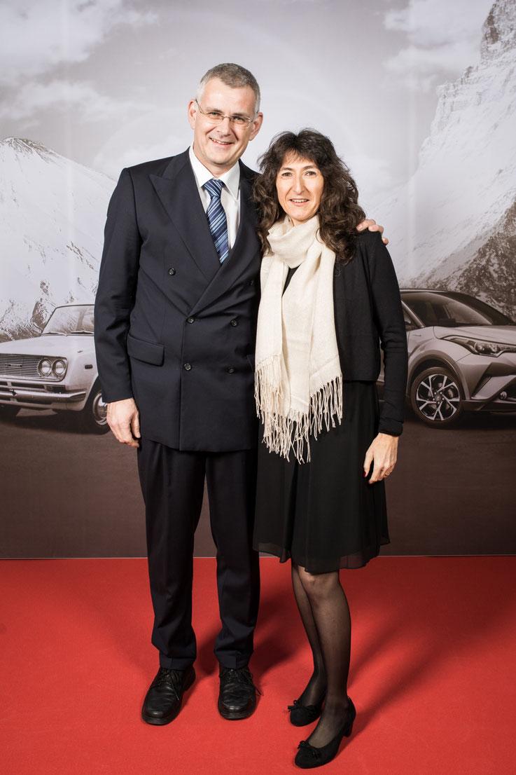 Claudia und Peter Iselin am Ball 50th. Jahre Toyota Schweiz