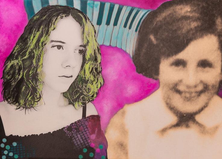 Collage zweier Mädchen
