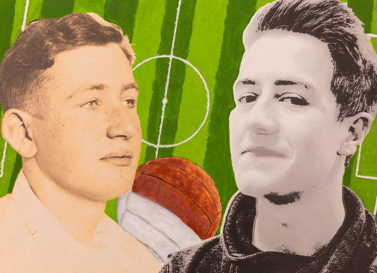 Collage zweier Jungs.