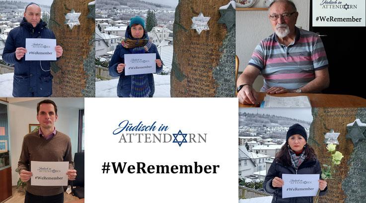 Collage Jüdisch in Attendorn #WeRemember