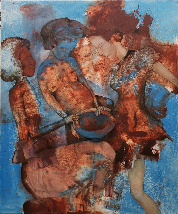 Paar von Himmelblau zu Schwarz Maria Wirth painting