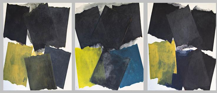 """SF 3 peintures """"acrylique sur toile"""" chaque peinture 1,30m x 1,62m ©BD-F"""