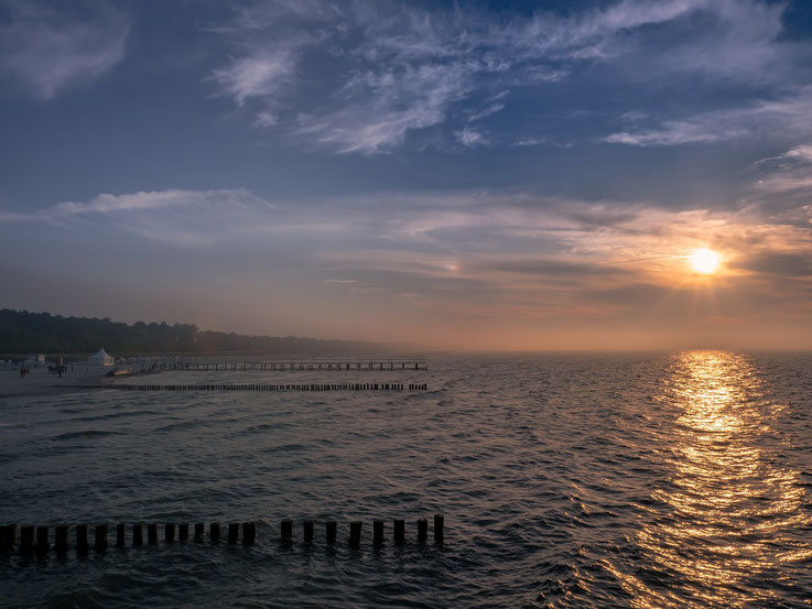 Am Abend kam Nebel auf, trotzdem oder vielleicht gerade deshalb gab es einen wunderschönen Sonnenuntergang.