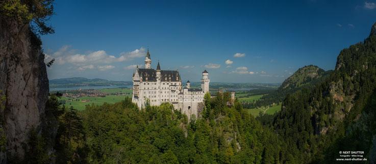 Schloss neuschwanstein, Panorama, Castle, Neuschwanstein