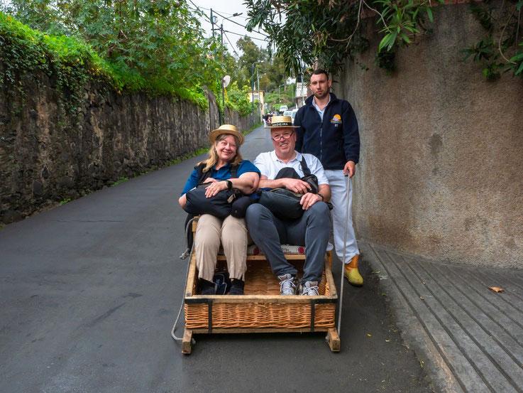 Natürlich sind wir auch vom mit dem Schlitten gefahren - die sicherlich bekannteste Touristenattraktion der Insel.