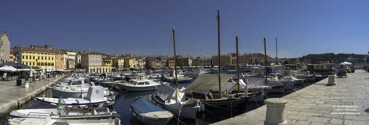 Die Marina und Fischereihafen von Rovinj