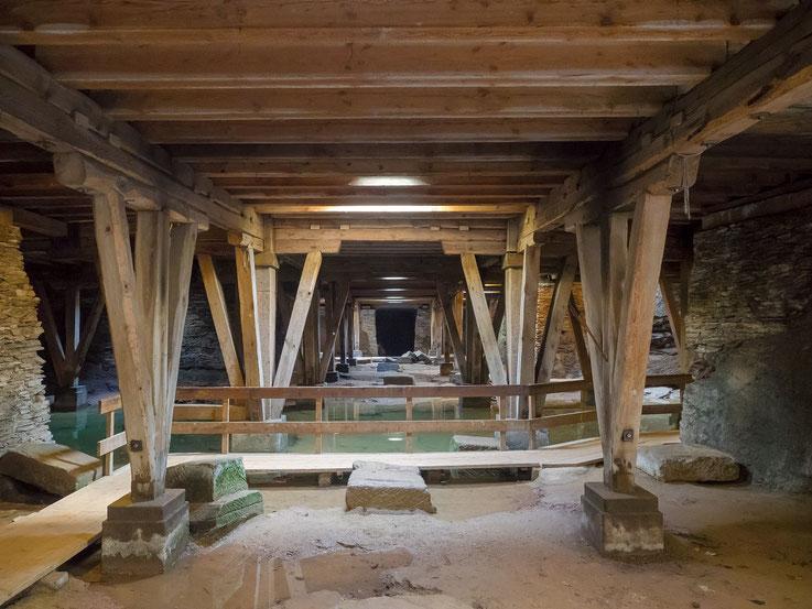 Sozusagen das Kellergeschoff des Amphitheaters