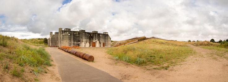 Der Bunker, hinter dem das Museum gelegen ist.