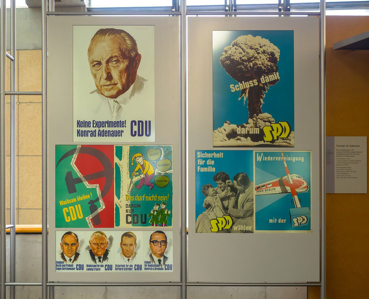 Plakate der Wahl zum Deutschen Bundestag 1957