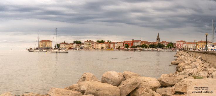 Stadtpanorama von Porec - bitte aufklicken