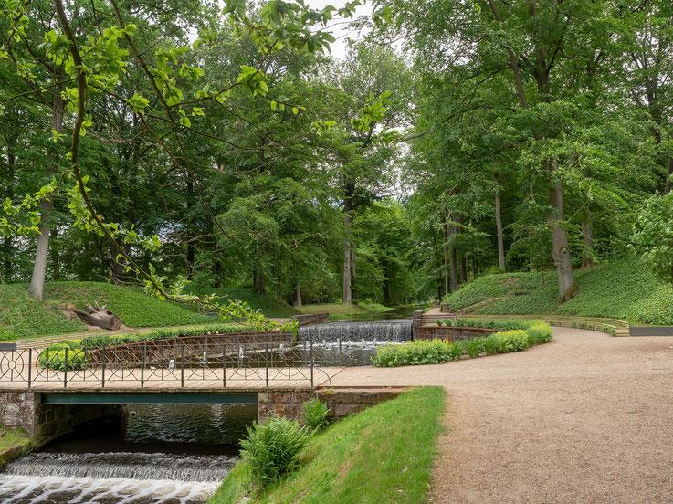 24 Wassersprünge im Schlosspark