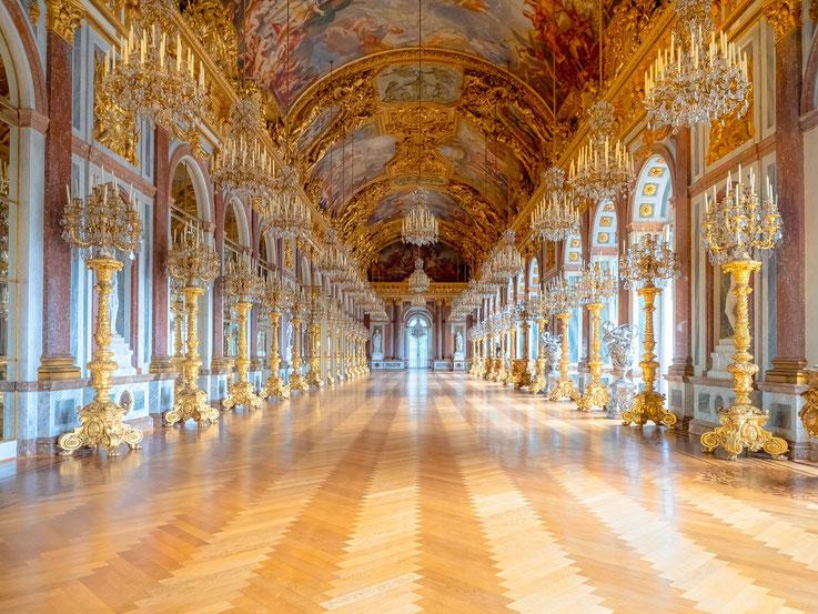 Der Spiegelsaal des Schlosses