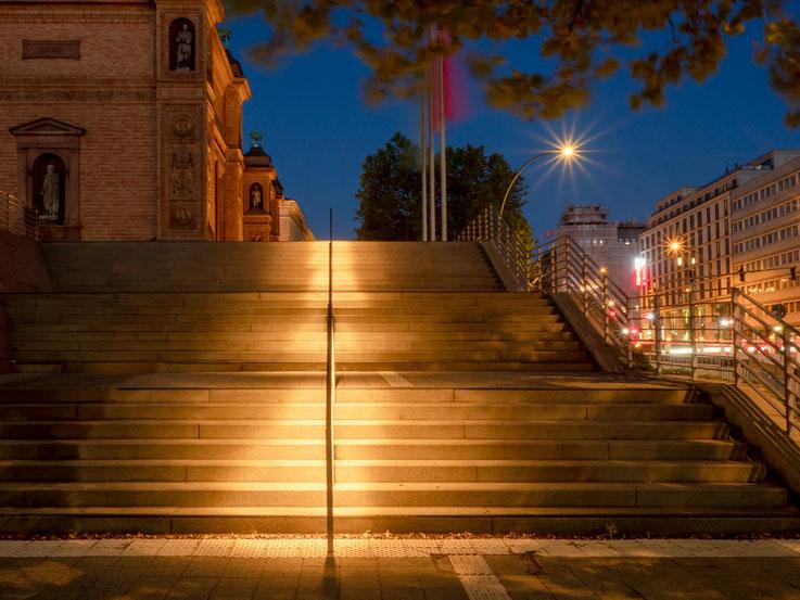 Die Treppe zur Kunsthalle