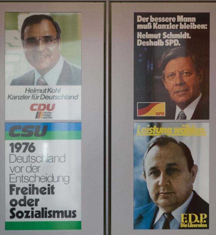 Die Wahl 1976 - damals wurde Helmut Schmidt als Bundeskanzler bestätigt.