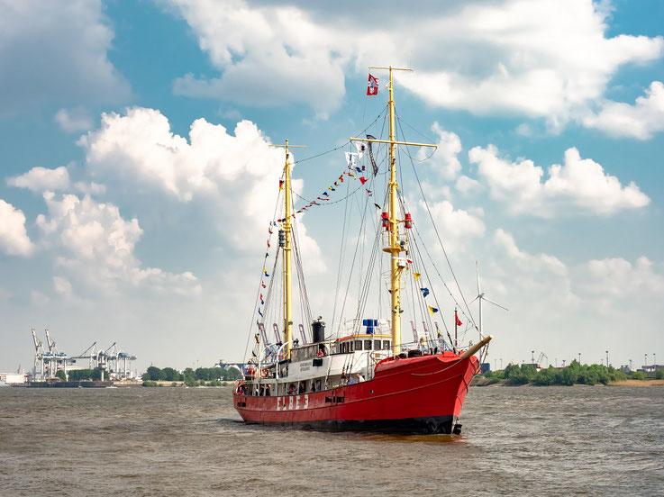 """Feuerschiff """"Elbe 3"""" des Museumshafens Övelgönne"""""""