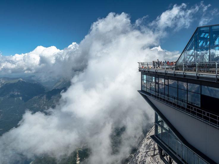 Die Bergstation der Seilbahn der bayerischen Zugspitzbahn