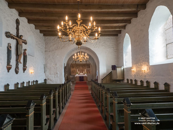 Innenraum der St. Ansgar Kirche Haddeby