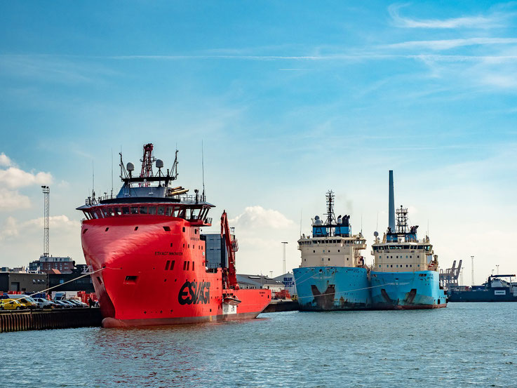 Arbeits - und Versorgungsschiffe für die Offshore - Industrie.