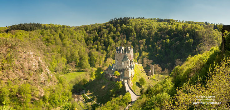 Panorama der Burg Eltz / Panorama Eltz castle