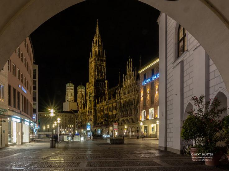 Marienplatz München, Nachtaufnahme