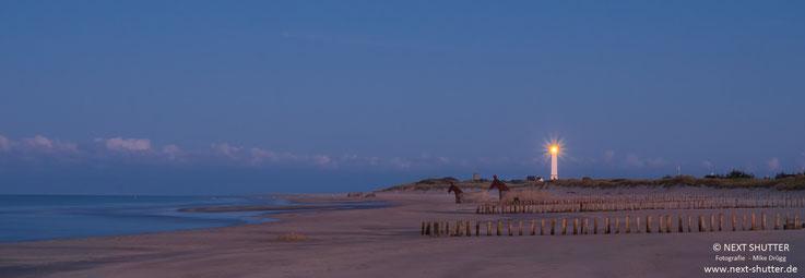 Der Strand von Blavand bei Sonnenaufgang.