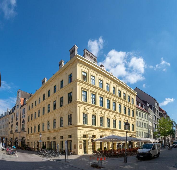 Das alte Hacker-Haus in der Sendlinger Straße, es beherbergt die Traditionsgaststätte der Hacker-Pschorr Brauerei