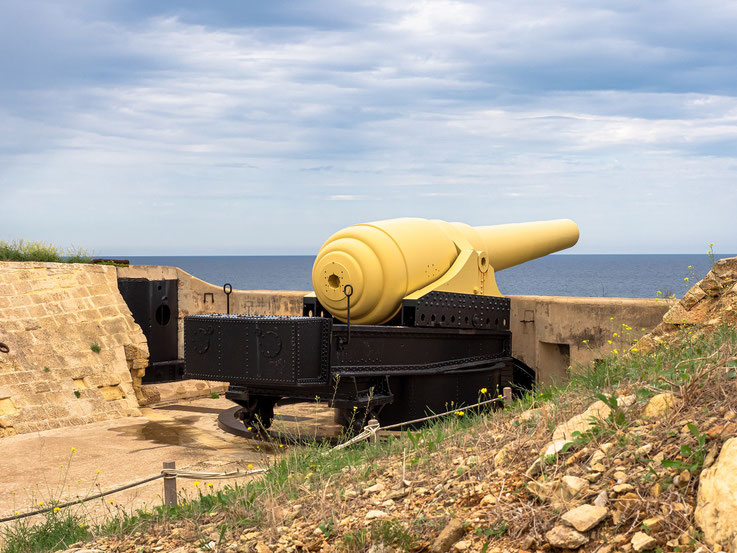 Fort Rinella wurde eigens zur Aufnahme dieser Kanone erbaut.