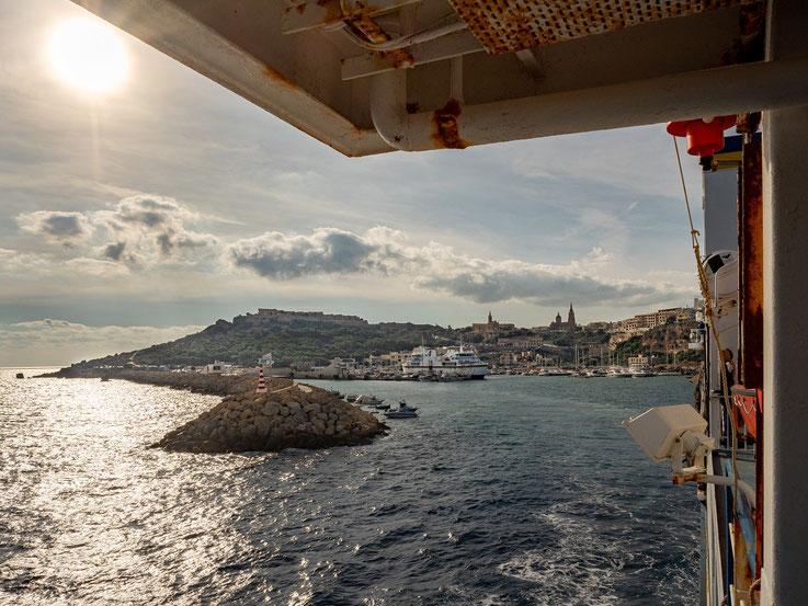 Rückfahrt von Gozo nach Malta, aber zuvor....