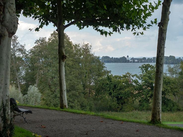Blick von der Herreninsel hinüber zur Faueninsel.