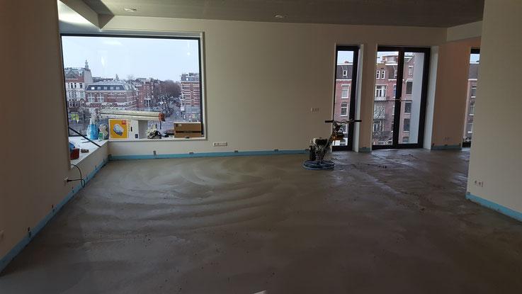Betonvloer High-end afwerking, appartement hartje Amsterdam