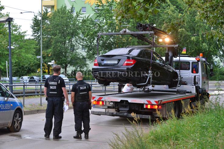 Der Mercedes wurde von der Polizei sichergestellt.|Foto:Dennis Brätsch