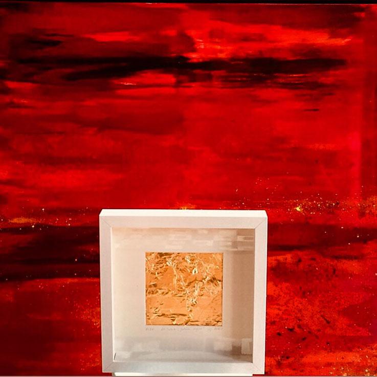 """Sonderserie  in einer zwanziger Auflage   """"golden-signs"""" anlässlich   9/11   // Maße:  ca. 25 x 25 cm // Euro 122 //www.ursula-scherer.com"""