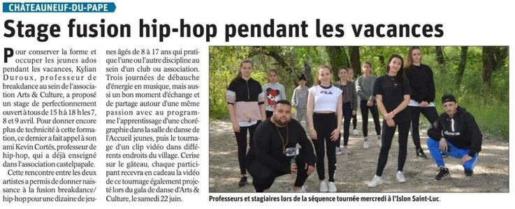 hip hop break dance chateauneuf du pape arts et culture