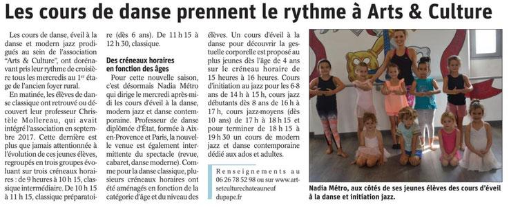 dance chateauneuf du pape danse modern jazz eveil à la danse