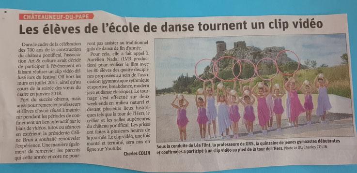 gymnastique rythmique vaucluse chateauneuf du pape GR