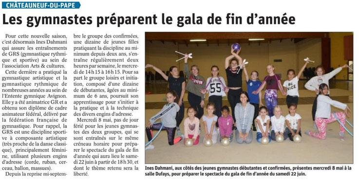 Gymnastique Rythmique- saison 2018-2019- Article du 15/05/19
