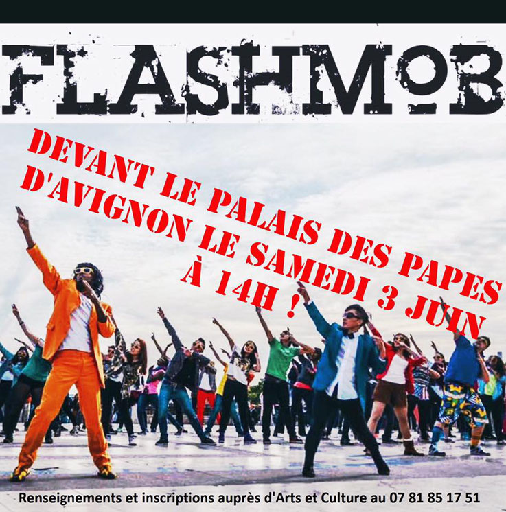 Flashmob/ass arts et culture/ danse/jazz/Avignon/chateauneuf du pape