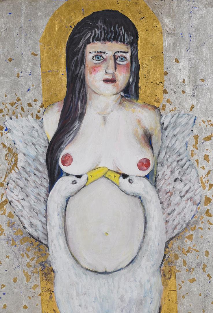 Ikonenmalerei, gold, painting, contemporary, forehead, Galionsfigur, Gemälde, Malerei, Gold, Tanja Gott