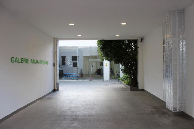 Eingangsbereich der GALERIE ANJA KNOESS
