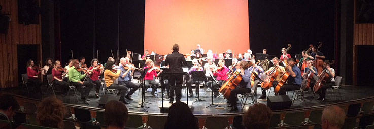 concentus alius on the Astrid-Lindgren-Bühne at FEZ during Berliner Orchestertreff 2019. © Ulrike Kubisch