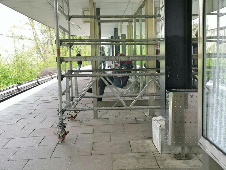 U-Bahn Hoheluft, Baugerüst