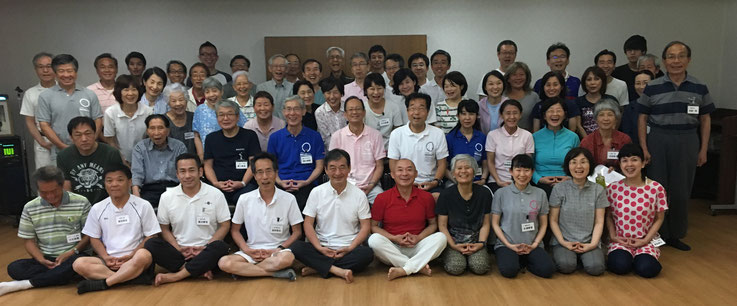 2018年6月に開催した天風会静岡の会主催、静岡、伊豆一泊行修会の参加者集合写真