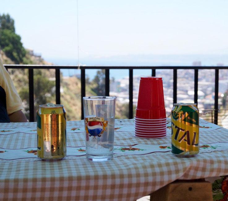 Blick von den Cerros auf Valparaíso