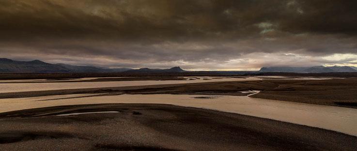 Flussdelta, Süden von Island