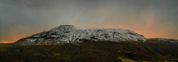 Iceland - River valley view to Mountain Kista, Stórhóll, Bjarnafell