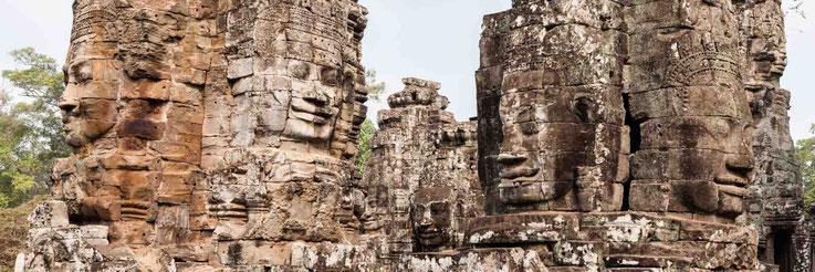 Bayon Tempel, Faces of Cambodia