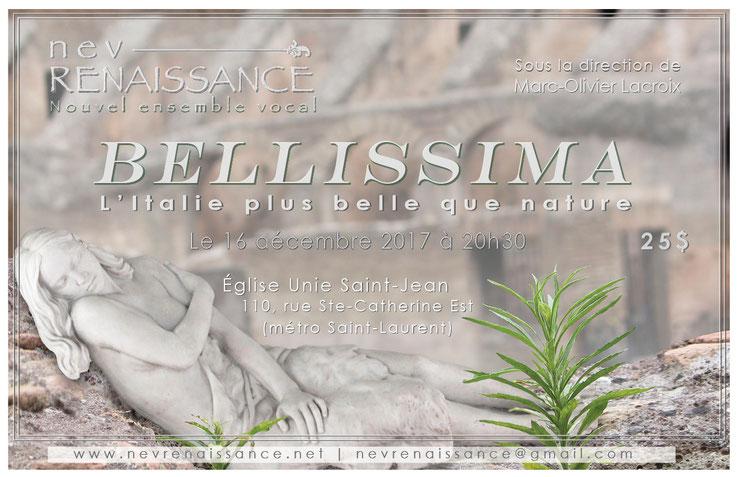 Bellissima : combinaison de trois photographies (arrière-plan : «Colisée» de Rome, avant plan : «plante poussant sur un rocher» et le personnage :  «Belle Italienne».