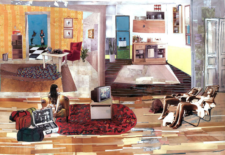 Noon, 43x62cm,2004,collage