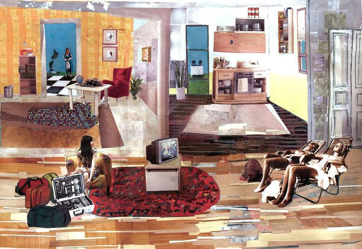 Noon, 43x62cm,2004,collage
